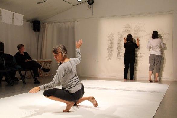 The Word Hand (collaboration with Pat Boas & Linda Hutchins) Photo: Chelsea Petrakis