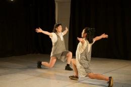 Lucy YIm & Takahiro Yamamoto in FUN/FUCK   photo: Jeff Forbes